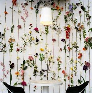 Una parete tutta di fiori