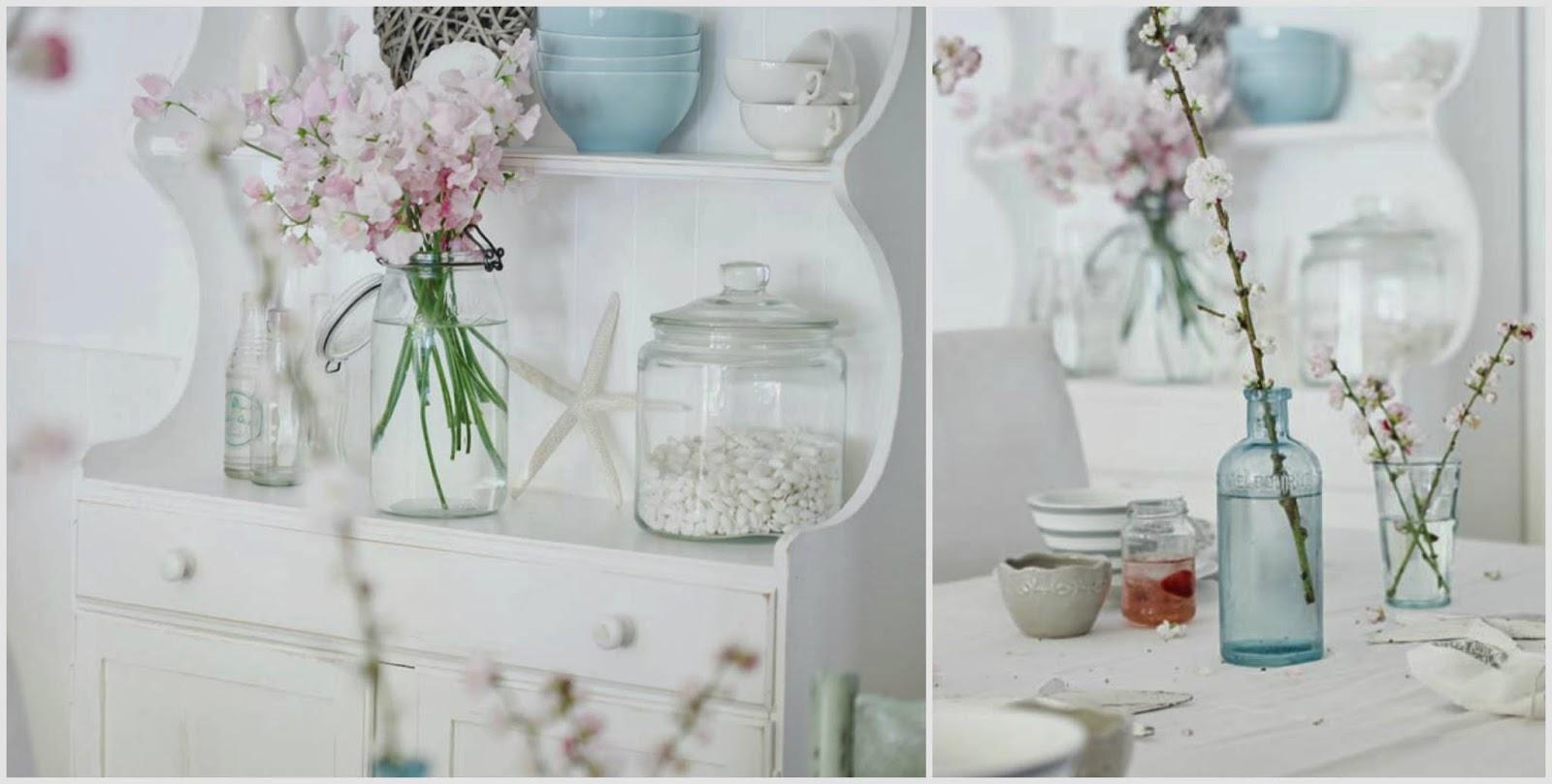 Decorare la tavola con i fiori di pesco il cestino da picnic - Rami decorativi per vasi ...